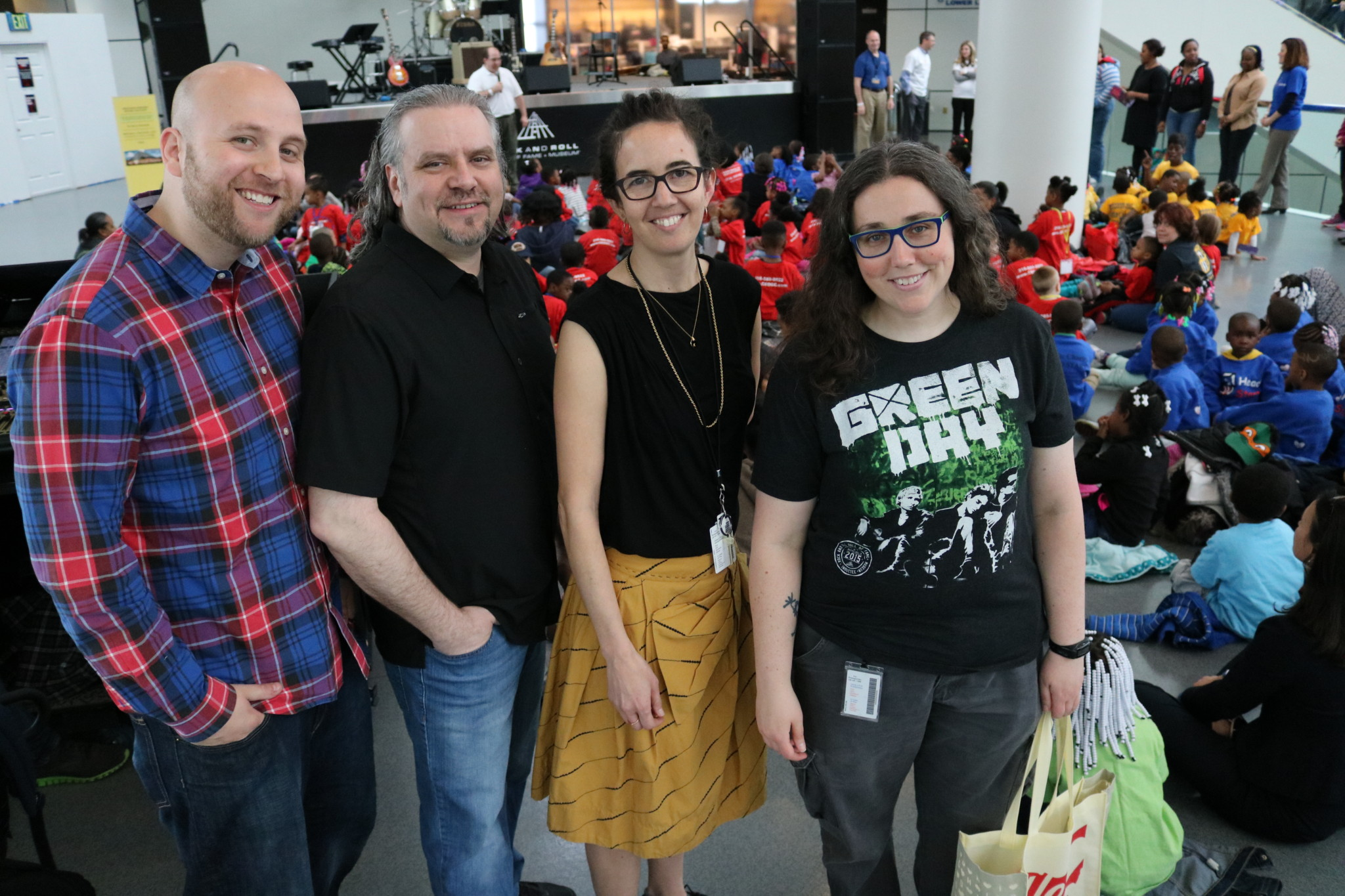 The Rock Hall's education team performed for the Toddler Rock finale