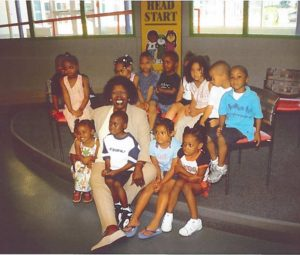 #TBT: Rep. Stephanie Tubbs Jones sits with Head Start students at George Forbes Early Learning Center.