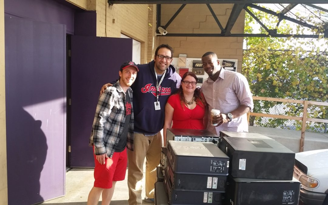Council employees accept $10,000 computer donation from Hotcards representatives