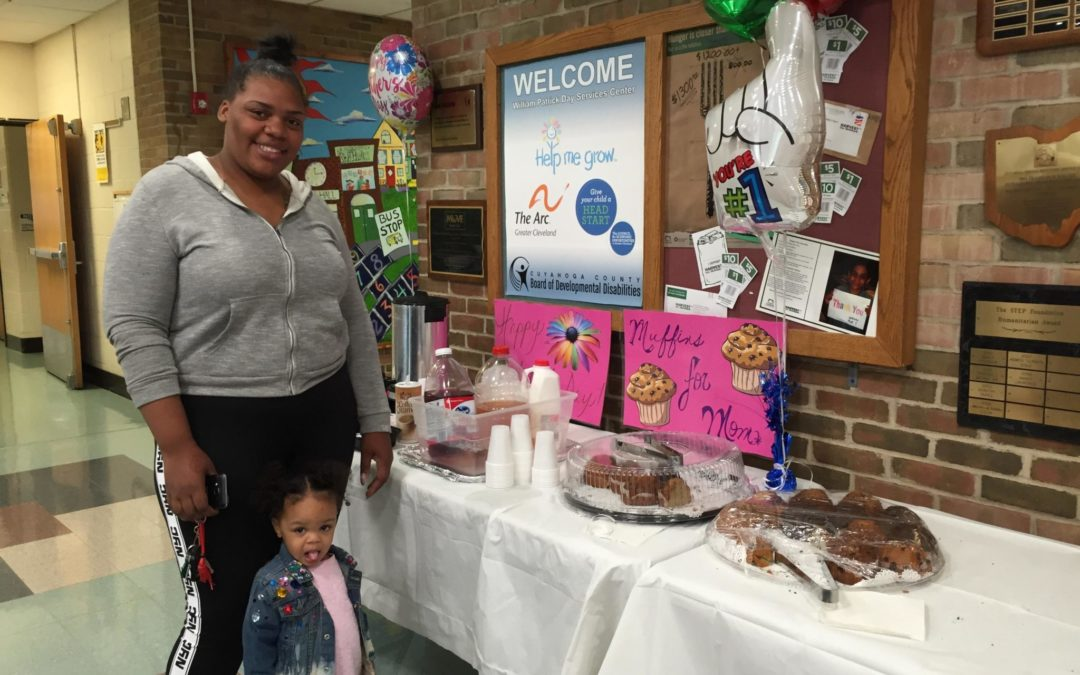 "It was all about moms as centers celebrated ""Muffins for Moms"" before Mother's Day"