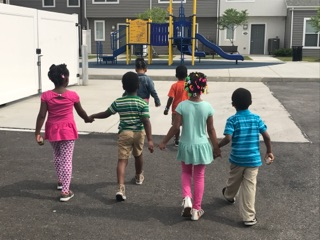 Students at William Patrick Day Head Start go out for their Kindness Walk