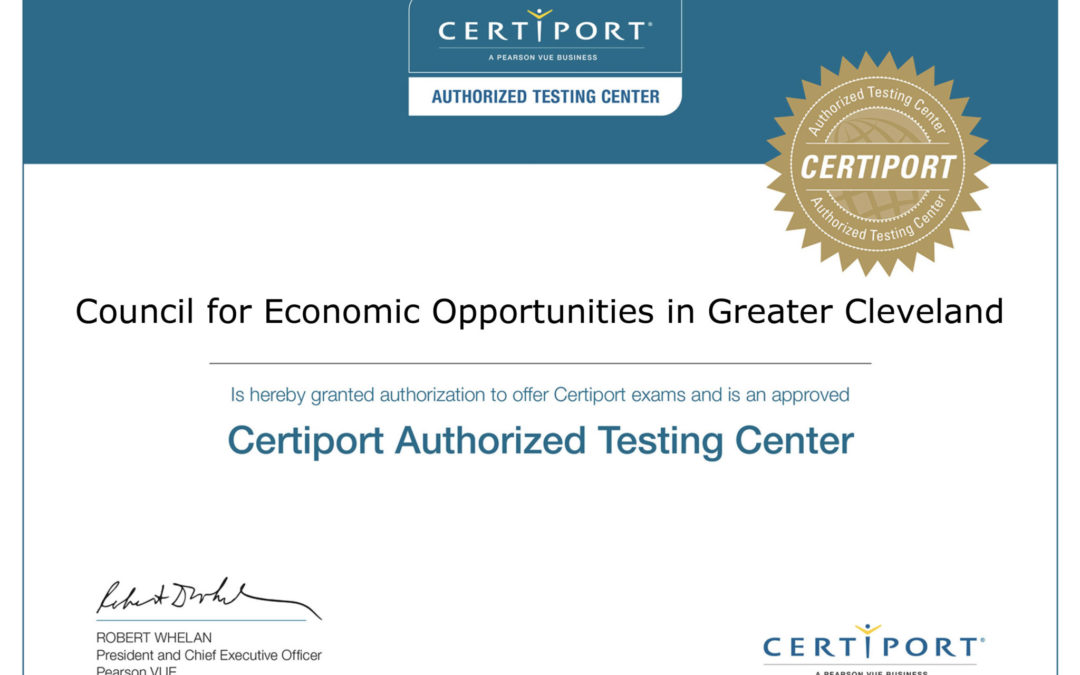 CEOGC job testing center receives Certiport authorization