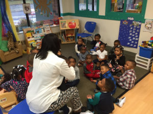 Head Start students at Carl B. Stokes kick off the school year with a song!